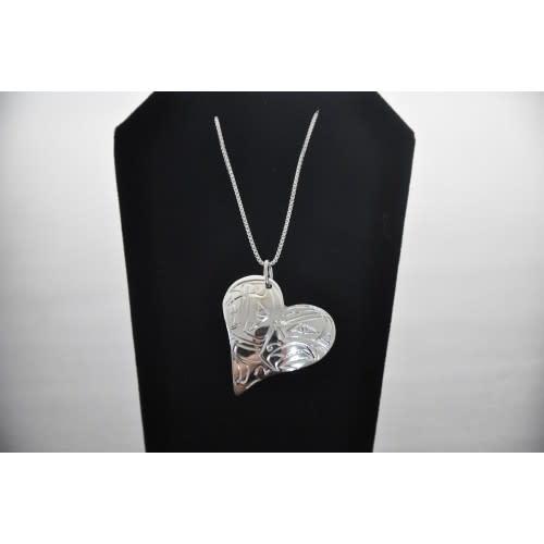 Silver Carved Hummingbird Pendant-LHN-2