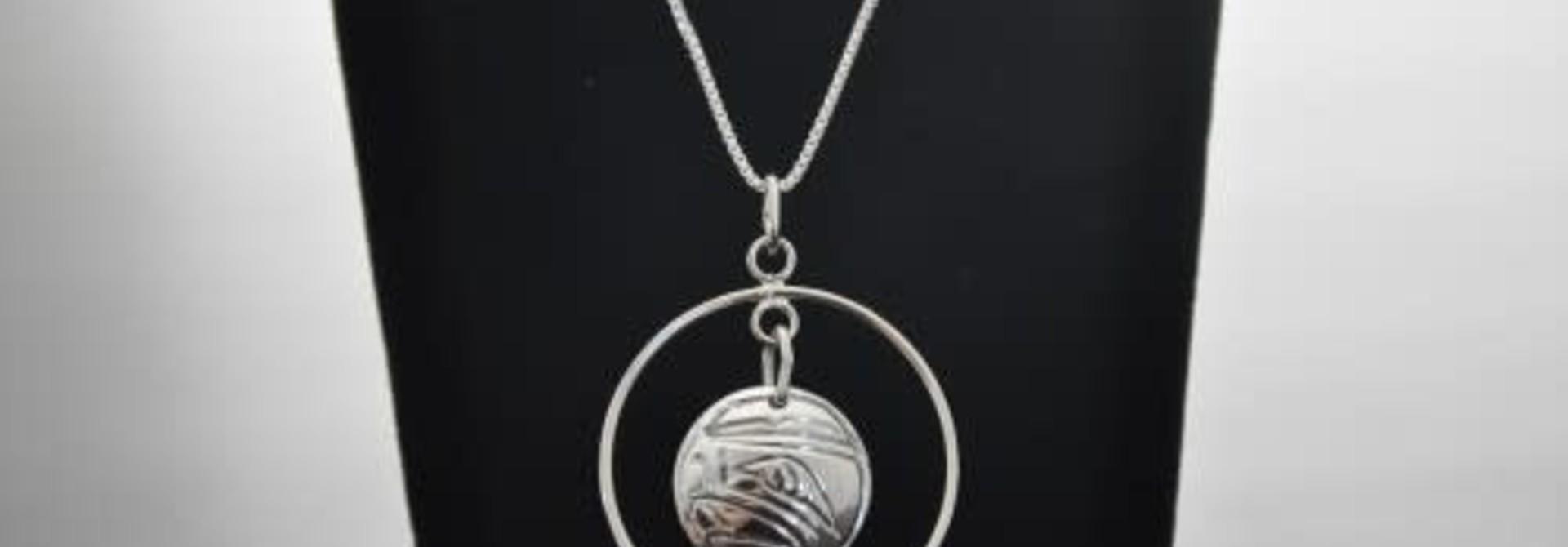 Silver Carved Eagle Pendant-07N