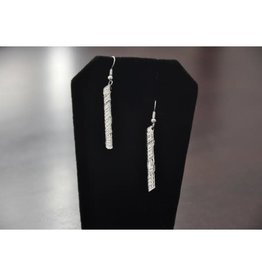 Silver Carved Emotions Eagle Earrings