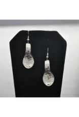 Silver Carved Eagle spoon Earrings