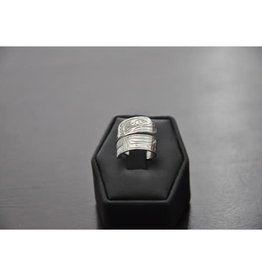 Silver Carved Wrap Ring-Eagle 56EA
