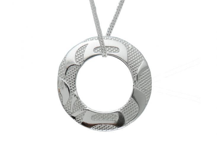 Silver Pewter Pendant - Equilibrium-2