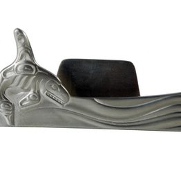 Pewter Business Card Holder - Whale