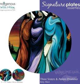 "Plate - Three Sisters & Aurora Drummer Ea. 7.5"""