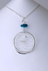 Sterling Silver Necklace -Turquoise Rock
