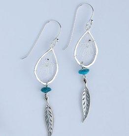 Teardrop Earring -Turquoise Rock