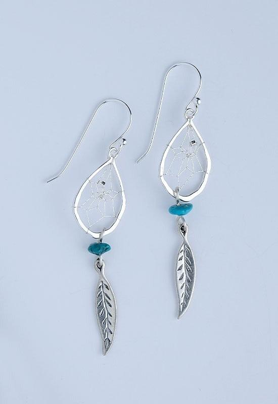 Teardrop Earring -Turquoise Rock-1