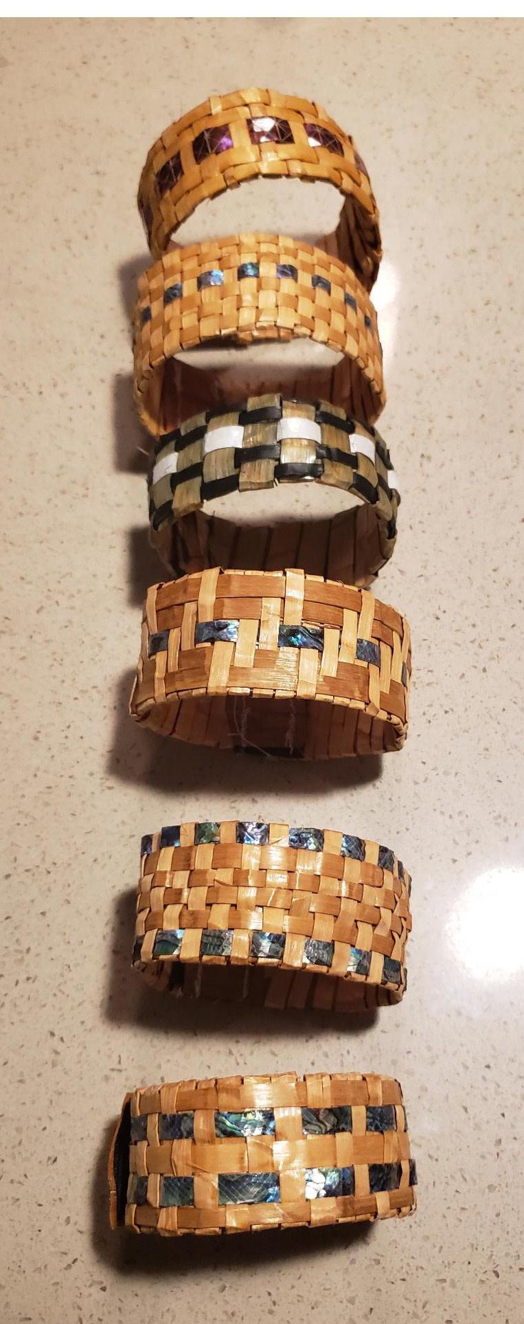 Cedar Bracelet with Abalone inlay- by C. Chapman-2