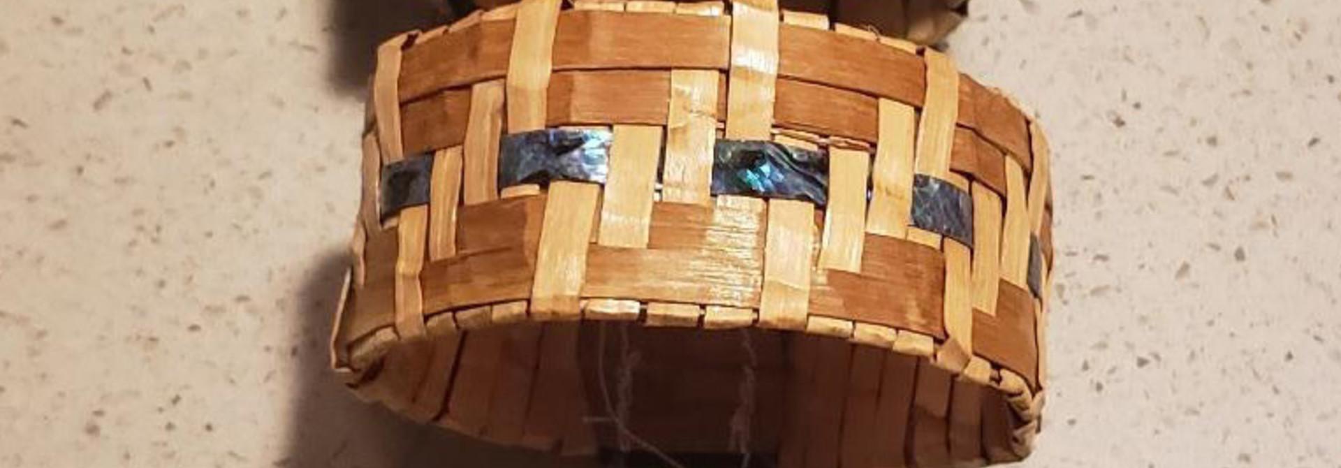 Cedar Bracelet with Abalone inlay- by C. Chapman