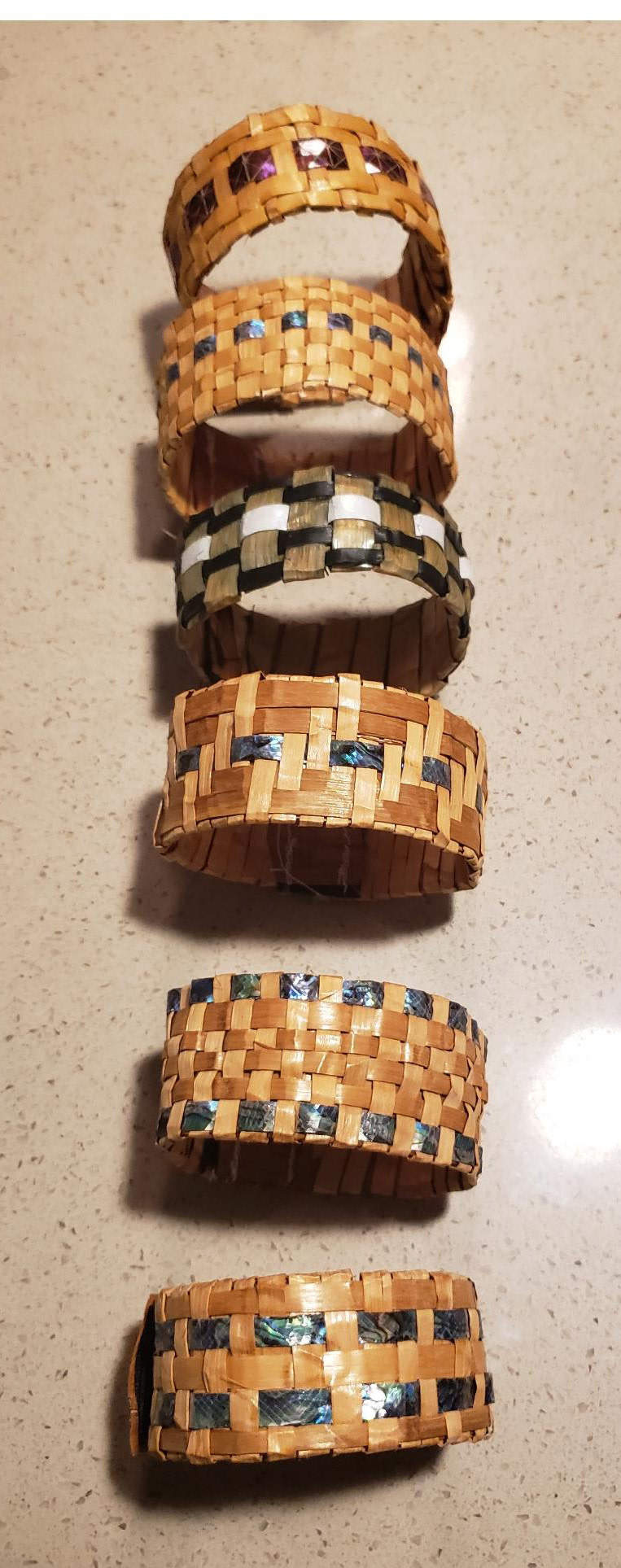 Cedar Bracelet with Abalone inlay- by C. Chapman-1