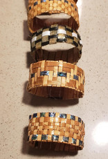 Cedar Bracelet with Abalone inlay- by C. Chapman