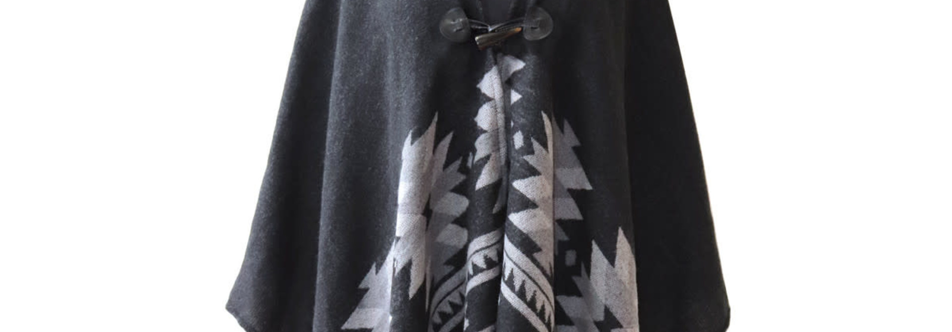 Hooded Fashion Wrap - Vision of Our Ancestors by Leila Stogan