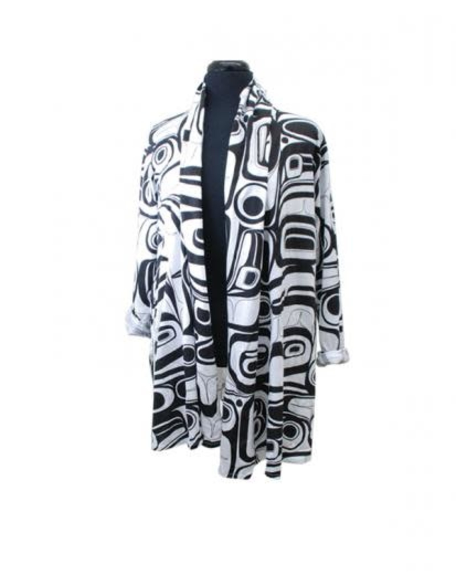 All Over Print Swing Jacket Raven by Kelly Robinson