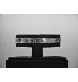 """Silver Carved Bracelet - 1/4"""" Hummingbird by Vincent Henson"""