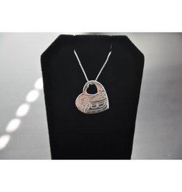 Silver Carved Hummingbird Pendant 02HN
