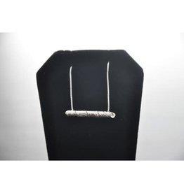 Silver Carved Pendant - Eagle by Vincent Henson