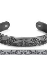 Brushed Silver Bracelet- Hummingbird- Paul Windsor