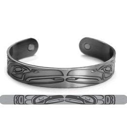 Brushed Silver Bracelet- Raven- Paul Windsor