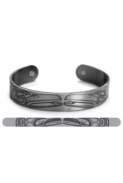 Brushed Silver Bracelet- Raven- Paul Windsor