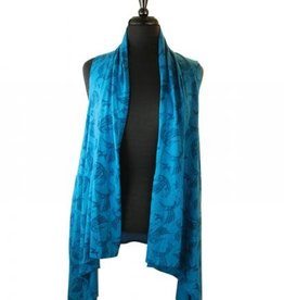 All Over Vest-Hummingbird- Bill Helin-Turquoise