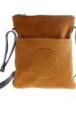 Embossed Leather Solo Bag - Eagle by Bill Helin