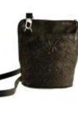Deerskin Leather Compact Cross Body Purse - Bear Box Design