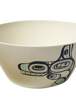 "Bamboo Salad Bowl 10"" -Whale- Ernest Swanson"