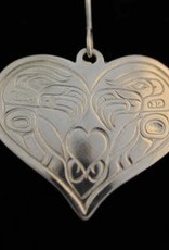 Silver Cast Pendant Eagle Heart - large by Jadeon Rathgeber