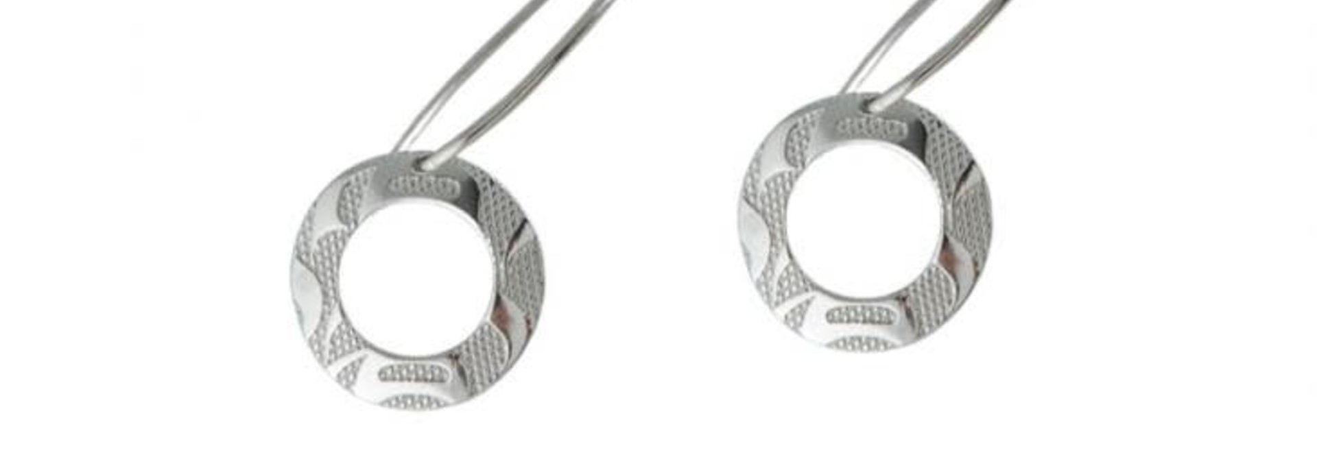 Silver Pewter Equilibrium Earrings Petite