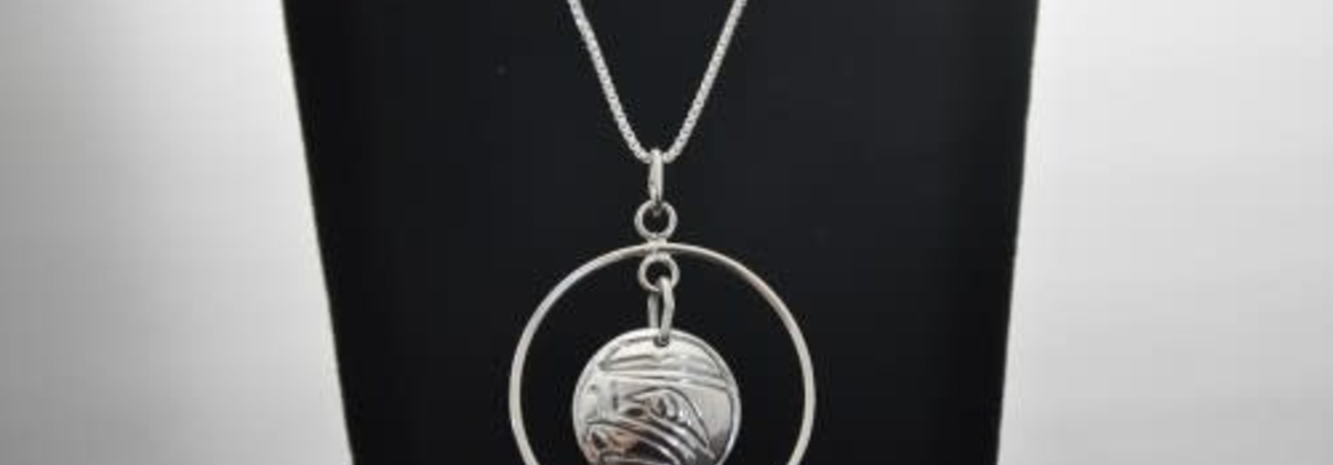 Silver Carved Eagle Pendant by Vincent Henson