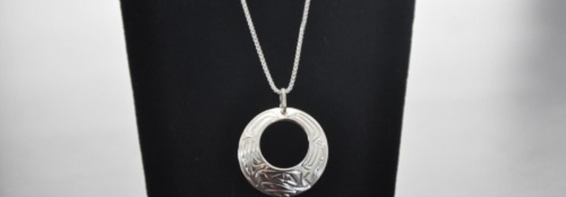 Silver Carved Eagle Pendant - 23N