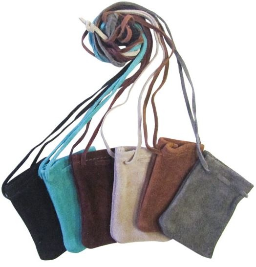 Leather  Bag mixed colours-1
