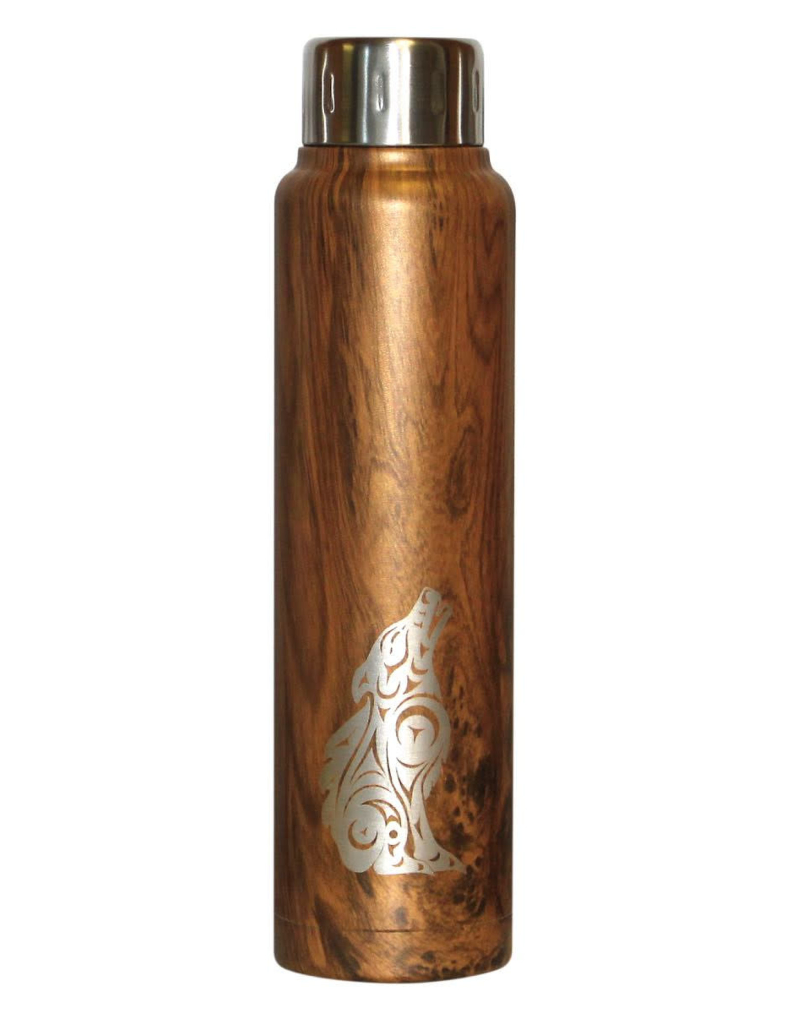Insulated Totem Bottle-Wolf by Darrell Thorne