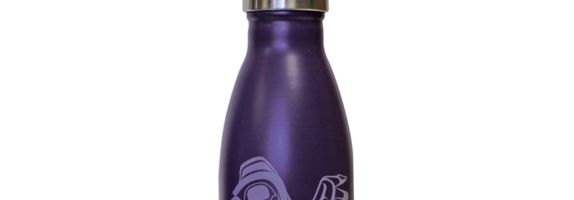 Insulated 9oz bottle-Raven by Chris Kewistep