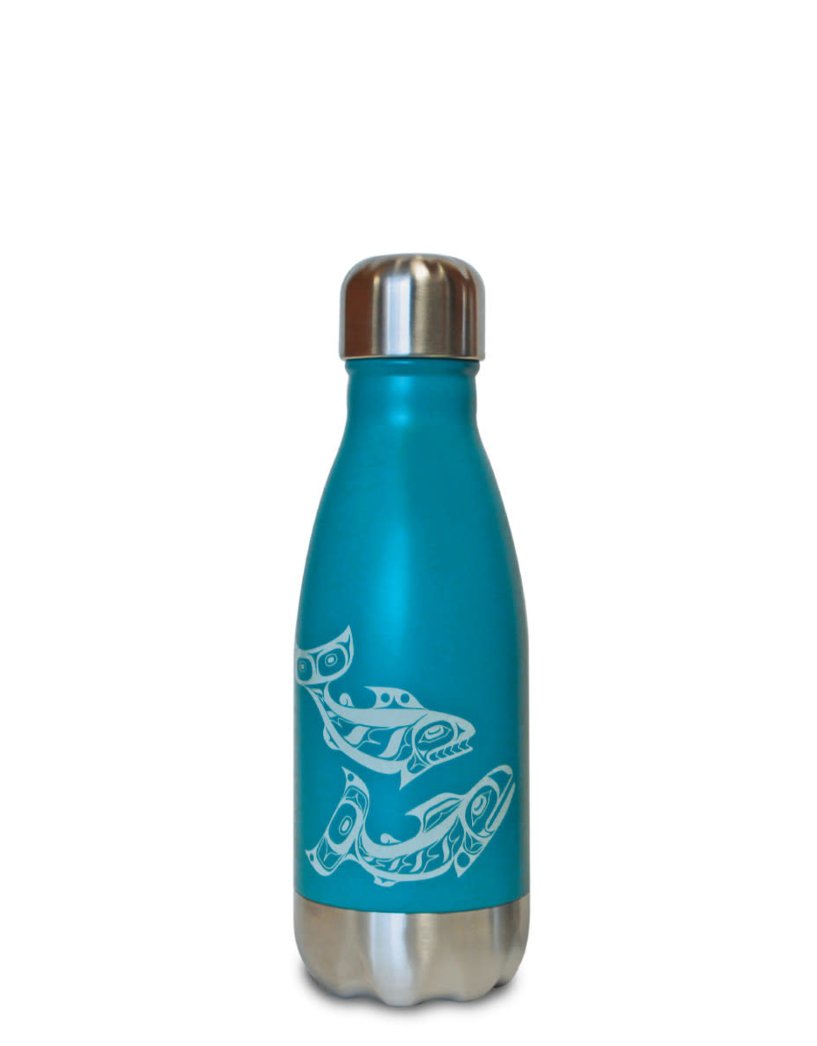 Insulated 9 oz Bottle - Salmon by Allan Weir