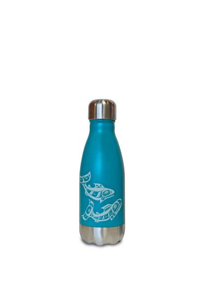 Insulated 9 oz Bottle - Salmon by Allan Weir