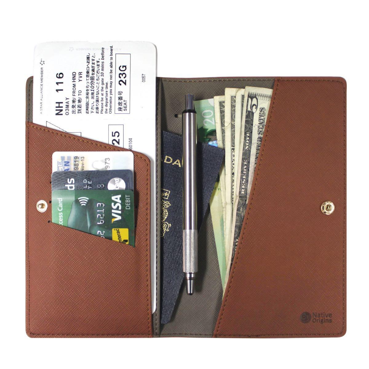 Travel Wallet - Brown-2