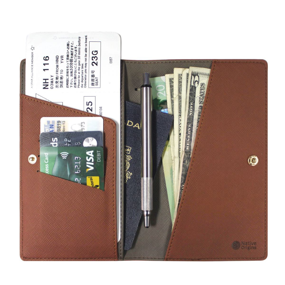 Travel Wallet Black-2