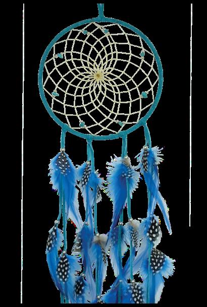"""6""""  Turquoise Dream Catcher w stones & Beads"""