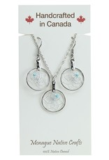 """.75"""" Dream Catcher Jewellery Set on Card. Center bead colours come assorted."""