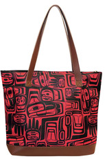Woven Tote Bag - Eagle Crest by Ben Houstie