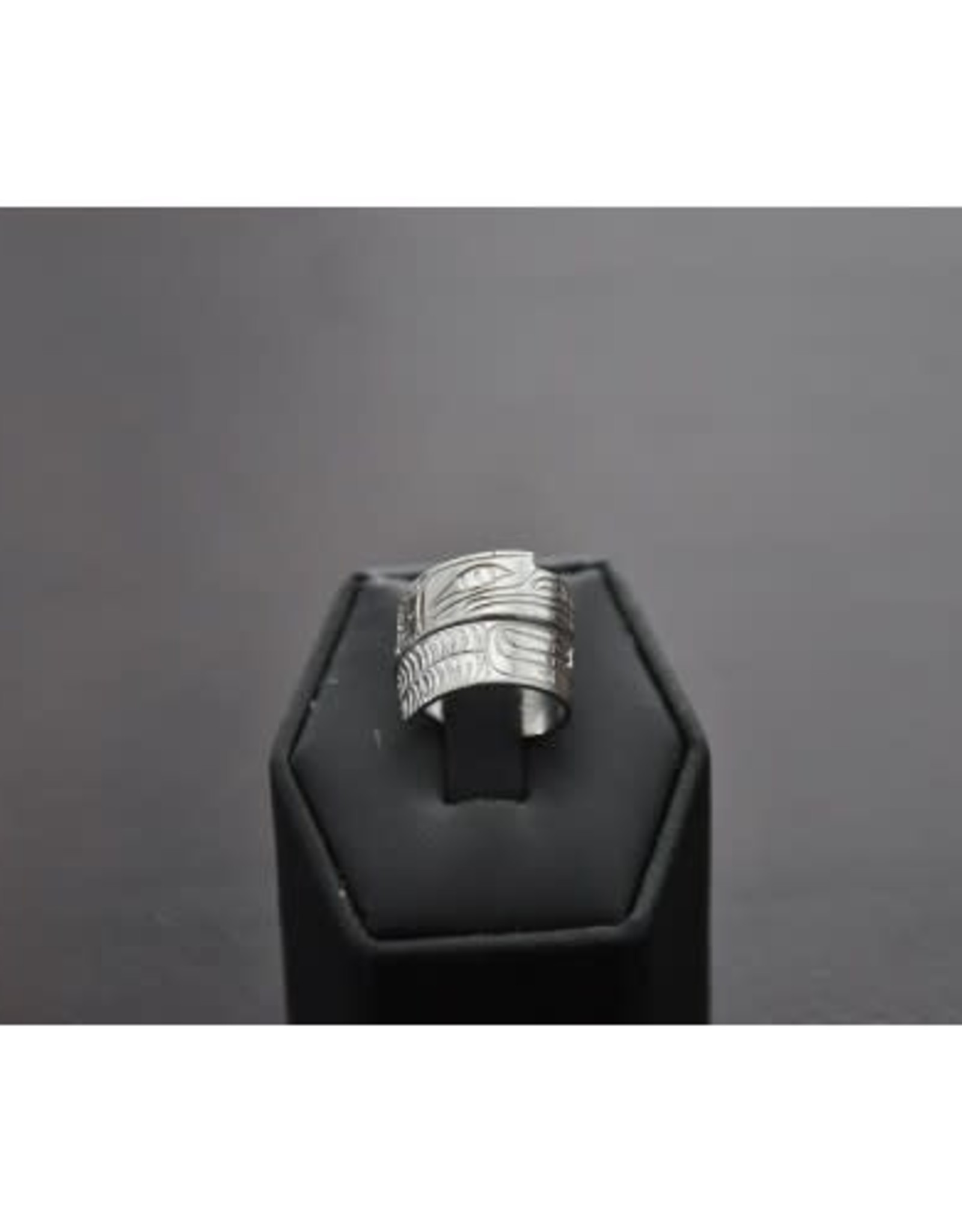 Hand Carved Silver Wrap Ring