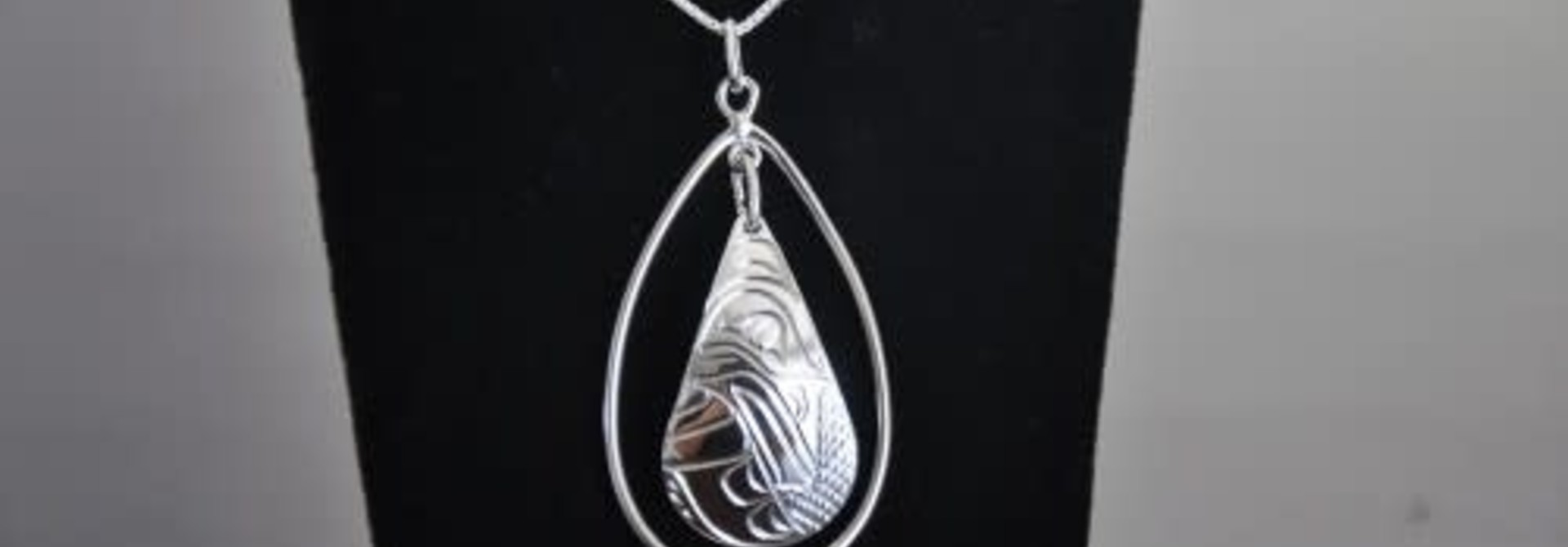 Hand Carved Silver Pendant Hummingbird design by Vincent Henson