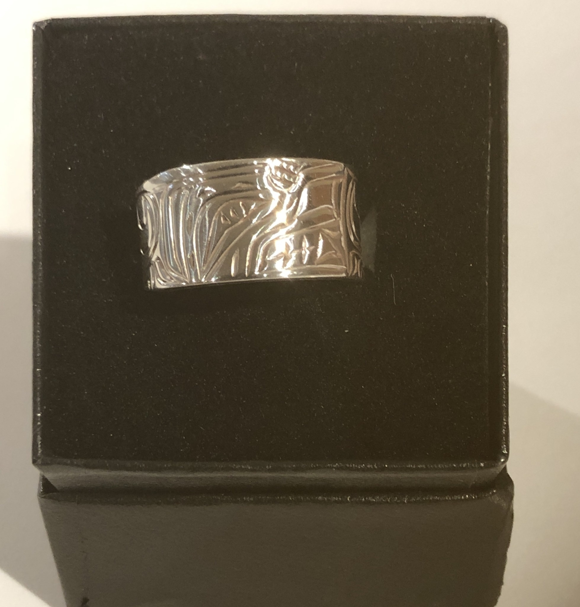 Hand carved silver rings by Nancy Dawson-2