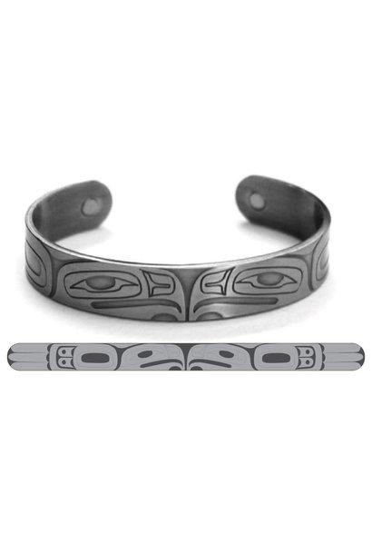 Brushed Silver Bracelet-Eagle by Gordon White