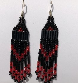 "Hand made 2.5"" Beaded Earrings by Melissa Charles"