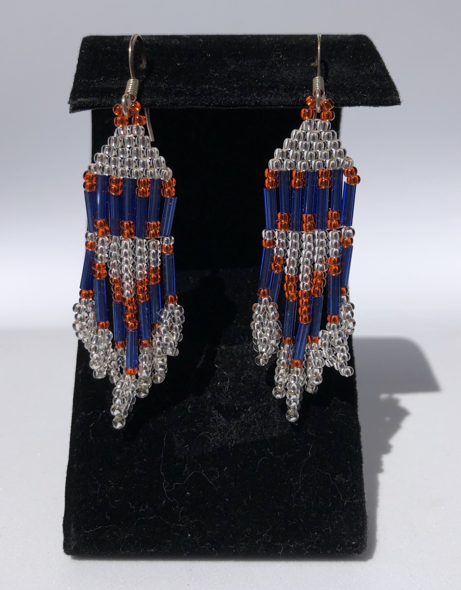 """Hand made 2.5"""" Beaded Earrings by Melissa Charles"""
