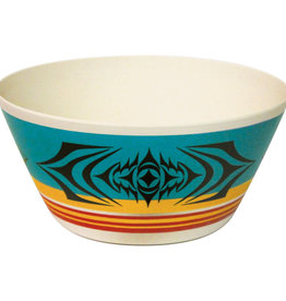 """Bamboo bowl 10""""- Salish Sunset by Simone Diamond"""