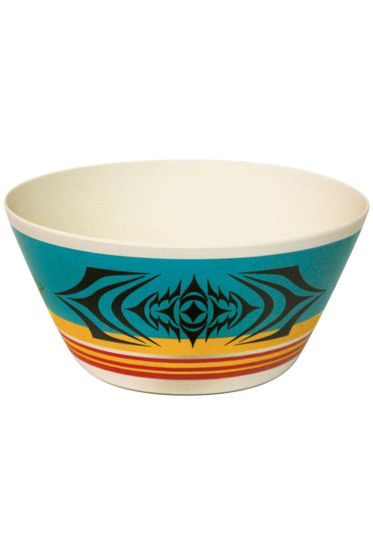 "Bamboo bowl 10""- Salish Sunset by Simone Diamond"