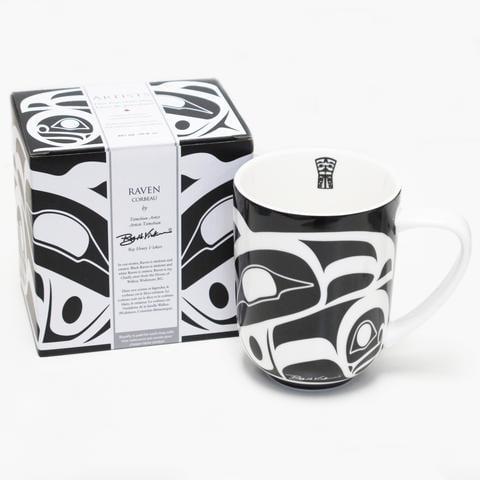 Porcelain Mug - Raven by Henry Roy Vickers-2